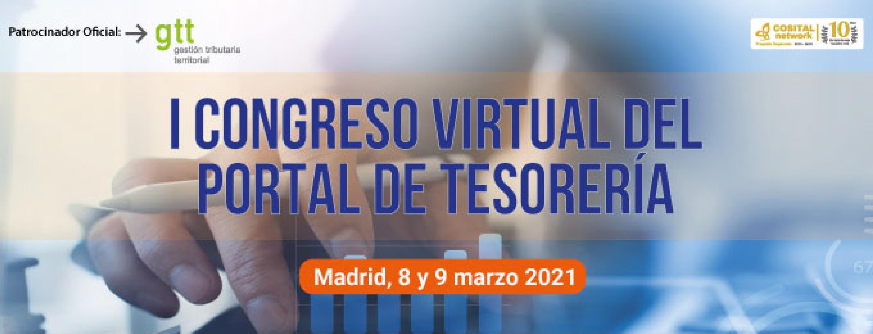 Gtt patrocina el I Congreso virtual del portal de Tesorería